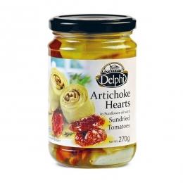 Артишоки в подсолнечном масле с сушеными томатами Delphi