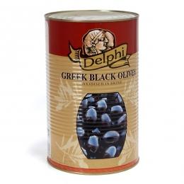 Маслины супергигант с косточкой в рассоле Delphi 4250г