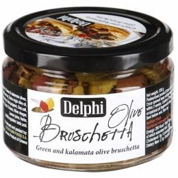 Брускетта Delphi из оливок Каламата и зеленых оливок 230 г