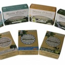 Оливковое мыло с мастикой, травами и лавандой,о.Хиос, Греция125 гр