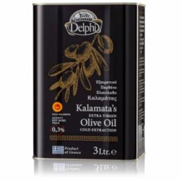 Масло оливковое Extra Virgin Каламата DELPHI P.D.O. 3л