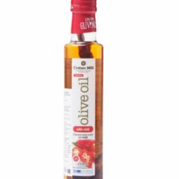 Масло оливковое Extra Virgin с перцем чили CRETAN MILL 0,25л