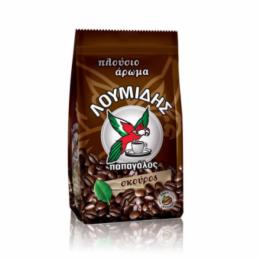 """Кофе натуральный молотый темной обжарки """"Скурос"""" LOUMIDIS PAPAGALOS 96г"""
