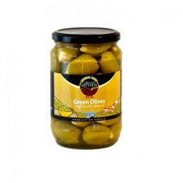Оливки фаршированные миндалём Cretan Mythos 720г