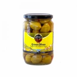 Оливки фаршированные красным перцем Cretan Mythos 720г