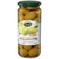 Оливки Delphi маринованные с лимоном и кориандром, 480г