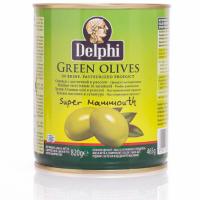 Оливки с косточкой в рассоле DELPHI Super Mammouth 91-100 820г